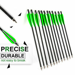 17/20/22mix Carbon Arrows Od 8.8mm For Cross Bow Archery Hunting Training