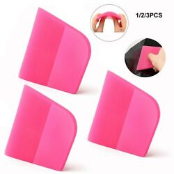 3x Soft Ppf Rubber Squeegee Water Ice Wiper Car Wrap Window Tint Cleaning Tools