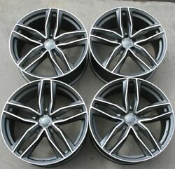 Set4 21 21x9.5 5x112 Et30 Rs Type Wheels Fit Audi A8 Q3 Q5 Q7 Q8 Rs7 Rs6 Sq5