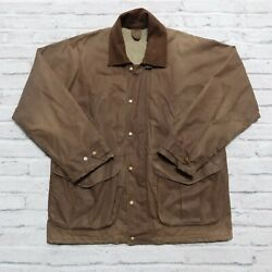 Vintage Filson Wax Tin Cloth Field Jacket Brown Style 1441n Size Large