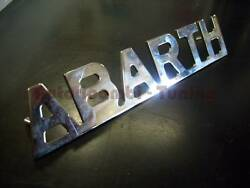 Print Abarth Chrome Plated Metal For Fiat 500 Car Old 110x21mm