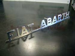 Print Fiat Abarth Chrome Plated Metal For Fiat 500 F Lr 126 Old