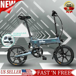 New 16and039and039 Electric Bike E-bike Bicycles City Folding Cycling 250w 7.8ah Battery