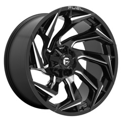 22x10 Fuel Reaction D753 Black Wheels 33 Mt Tires 6x135 Ford F150 Expedition