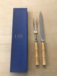 Nwt French Andldquoscofandrdquo Of France Flatwear Carving Fork And Knife 2 Piece Set Mrp118.00