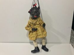 1930's Black Americana Marionette Doll Puppet Vintage Doll Antique Americana