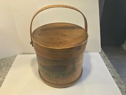 1890's Detroit J.j. Bagley Chewing Tabacco Large Store Display Basket Tobacciana