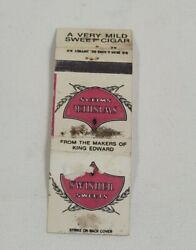 Vintage Matchbook - Swisher Sweets A Very Mild Sweet Cigar Mb1.