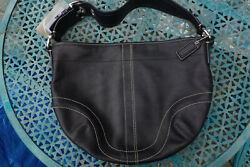 Coach Black Leather Hobo Shoulder Bag #F0751 F10908 $40.00