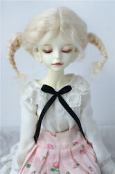 7-8inch Msd Lati Bue Long Mohair Doll Wigs 1/4 Bjd Doll Hair With Two Braids