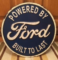 Ford Motor Company Metal Gas Oil Mustang Truck Vintage Style Garage Coupe
