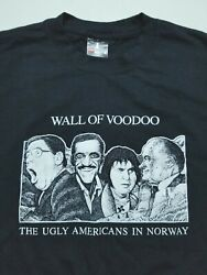 Vtg Wall of Voodoo The Ugly Americans in Norway Band T Shirt 80#x27;s Punk Rock Sz L
