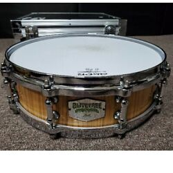 Pearl Olivetree Snare Drum 14x4 Ol1440s/c With Case Very Rare