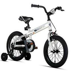 Whizz Kids Bike With Training Wheels For Ages 2-9 Years Old 12 Inch Silver