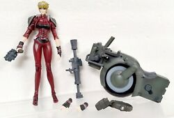 Epoch 2001 Vampire Hunter D 7 Leila With Bike Action Figure Missing Goggles
