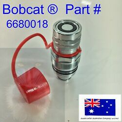 Ffi Flat Faced Female Auxilary Hydraulic Coupler And Dust Cap Fits Bobcat Tl470hf