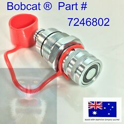 Female Hydraulic Coupler And Cap Fits Bobcat S130 S150 S160 S175 S185 S205 S250