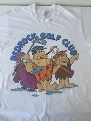 The Flintstones Bedrock Golf T Shirt Vintage 90s. Made In The Usa. Size Xl