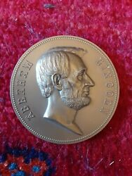 President Abraham Lincoln - In Office 1861 -1865 - 3 Bronze Medal - By G.morgan