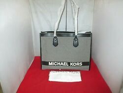 Michael Kors Bay Large East West Tote Shoulder Bag$ 278 Black White $139.99