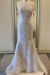 Unaltered, New Blush By Hayley Paige West 1710-designer Size 10, Veil Incld
