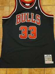 Nba Xl 48 Scottie Pippen Bull 33 Authentic Mitchell And Ness Jersey 96-97