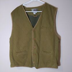 The Territory Ahead Vest Xxl Large Mens Quilted Leather Field Best Buckle Back