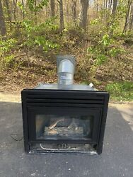 Propane Gas Fireplace Insert - 34andrdquo X 301/2andrdquo With Vent And Chimney