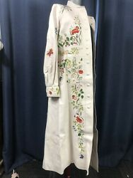 Louis Vuitton Rare Collectors Runway Flower Embroidered Lambskin Coat 40 15k Nw
