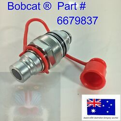 Hydraulic Male Coupler And Cap Fits Bobcat S130 S150 S160 S175 S185 S205 S250 5610