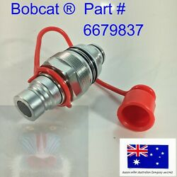 Ffi Auxilary Hydraulic Male Coupler And Cap Fits Bobcat Tl38.70hf Tl470 Tl470hf