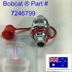 Ffh Male Hydraulic Coupler And Cap Fits Bobcat T740 T750 T770 T870 5600 5610 V519