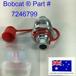 Ffh Male Auxilary Hydraulic Coupler And Cap Fits Bobcat Tl30.70 Tl34.65hf Tl35.70