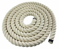 40mm White Synthetic Cotton Rope X 150 Metres Garden Decoration Soft Handrail