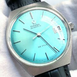 Omega Devil Vintage Watches Mens Sky Blue Dial Good Condition Rare From Japan