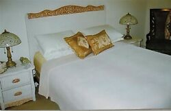 7 Piece White Rattan Wicker Bedroom Furniture Set Clean No Flaws Pier 1 Imports
