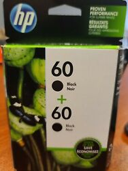 Hp 60 Cz071fn140 Black Ink Cartridges - 2 Pack Exp 2022