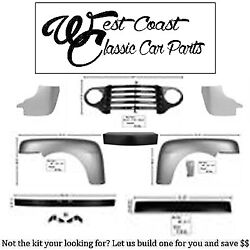 1948-1950 Ford Truck Painted Grille Painted Bumpers Fenders Splash Shlds Header+