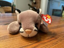Ty Beanie Baby Canyon Cat Cougar Mountain Lion 1998 Plush Toy- Mwt Retired