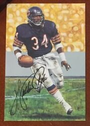 Walter Payton Goal Line Art Card Gold Label Rare 62/100