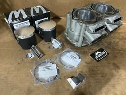 Seadoo 947 951 Gtx Carb Silver Cylinder Wossner Piston Gasket Bearing Top End 48