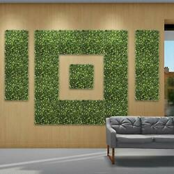 Andnbspartificial Boxwood Panels Topiary Hedge Plant Uv Protected 6 Jasmine Flower