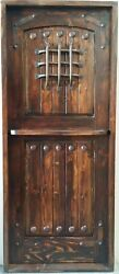 Rustic Reclaimed Lumber Square Top Dutch Door Solid Wood Story Book Winery