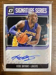Kobe Bryant Autographed Donruss Optic Signature Series Mint Card 18/19 And Plaque