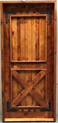 Rustic Reclaimed Lumber Square Top Door Solid Wood Story Book Winery Pre Hung