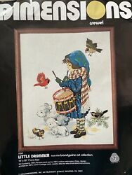 Dimensions Little Drummer Boy Crewel Embroidery Christmas Kit 1158 Year 1979