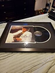 Micheal Jackson Autographed Professionally Framed Thriller Album And Vinyl.coa