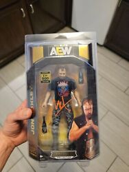 Jon Moxley Aew Unrivaled Chase Figure Signed Jsa Certified in defender case.