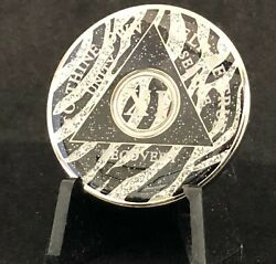 11 Year Zebra Sparkle Aa Medallion -- Alcoholics Anonymous Chip