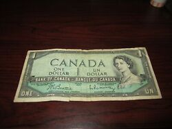No Serial Number - 1954 - Canada 1 Bank Note - Canadian One Dollar Bill - Error